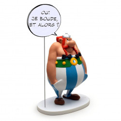 "Statue Asterix: Obelix ""Yes, I am grumpy, so what?"""