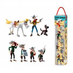 Tube: 7 Mini-figurines Lucky Luke